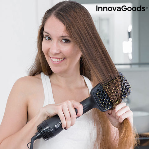 InnovaGoods Styling Dryer Brush 1000W Black Gold