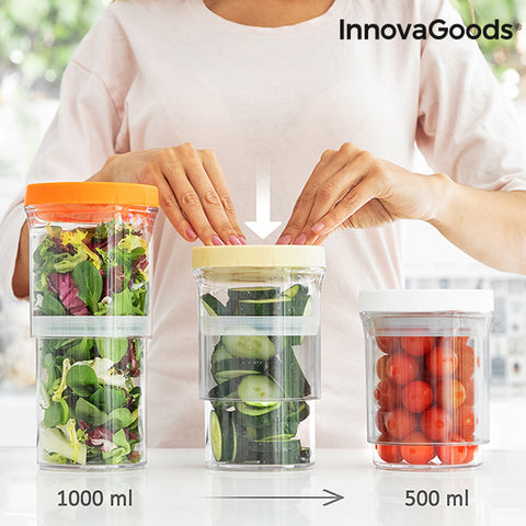 InnovaGoods Size-Adjustable Containers (Set of 3)