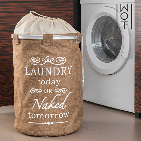 Vintage Cream Wagon Trend Laundry Bag