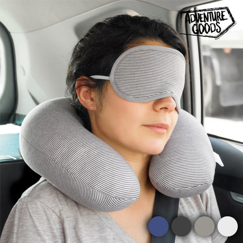 Adventure Goods Travel Neck Cushion and Eye Mask
