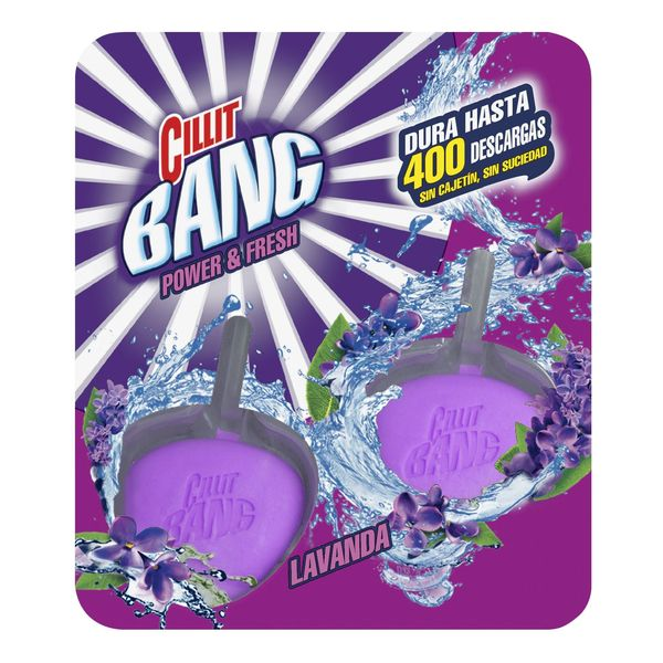 Cillit Bang WC Power & Fresh Toilet Bowl Clip-On Lavender Tabs (Pack of 2)