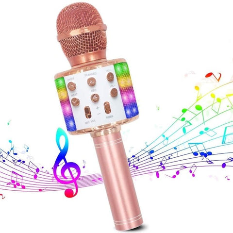 Karaoke Microphone Bluetooth Rose gold Wireless (7,5 x 22,5 x 7,5 cm) (Refurbished C)