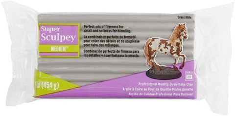 Clay Sculpey Grey (454 g) (Refurbished B)