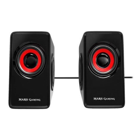 Gaming Speakers Mars Gaming MS1 10W Black/Red (Refurbished A+)