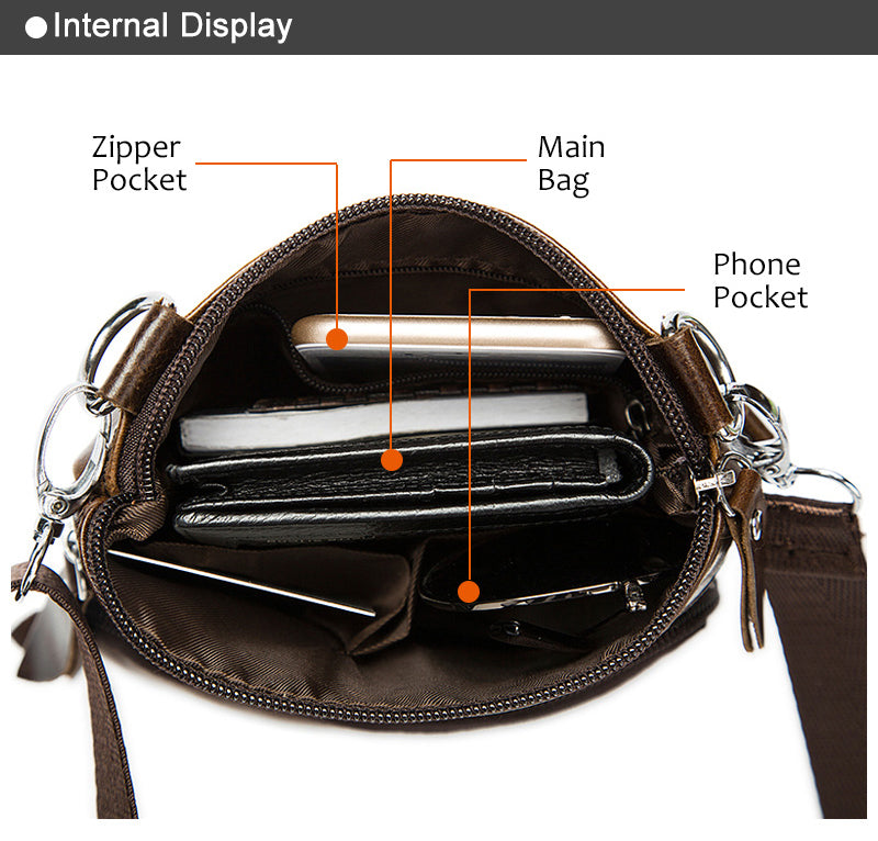 44abb315e654 Men s Messenger Bag 100% Leather Small Shoulder Bag Crossbody Bag For Men  Natural Cowhide Leather