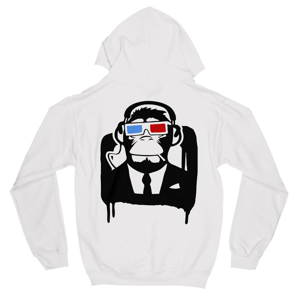 3D Monkey Primate Novelty Hoodie Adults: S