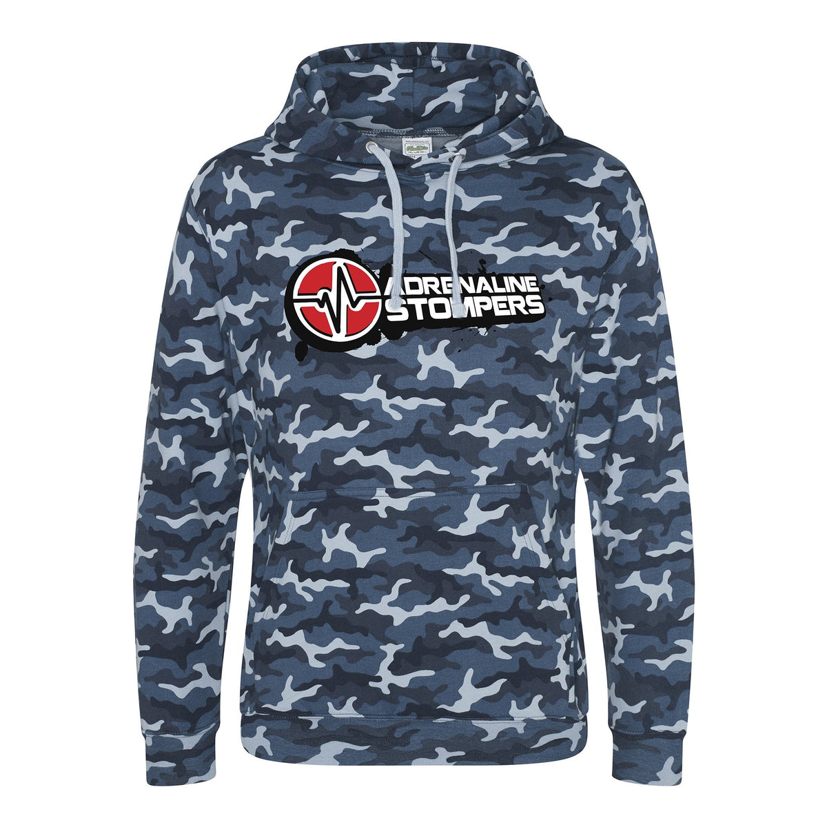 Adrenaline Stompers Blue Camo T-Shirt & Hoodie Adrenaline Stompers Unisex Hoodie Small