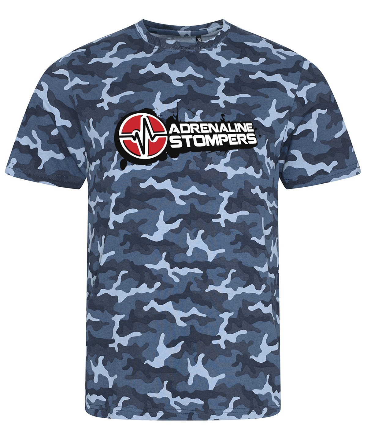 Adrenaline Stompers Blue Camo T-Shirt & Hoodie Adrenaline Stompers Unisex T-Shirt Small