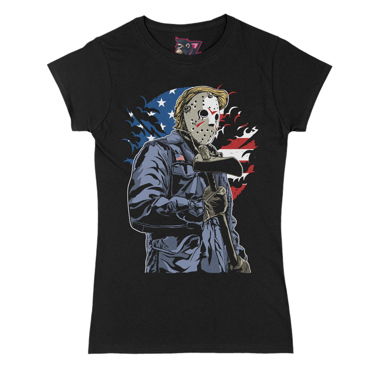 American Killer Primate Novelty Women's T-Shirt Adults: S
