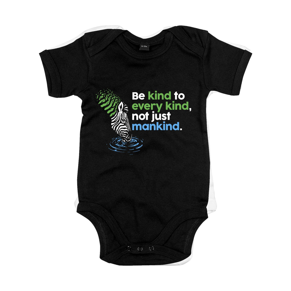 Be Kind Primate Novelty Baby Vest 0-3 Months