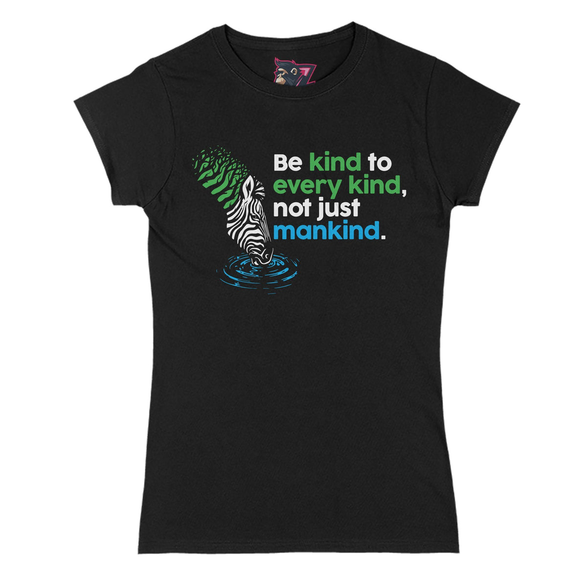 Be Kind Primate Novelty Women's T-Shirt Adults: S
