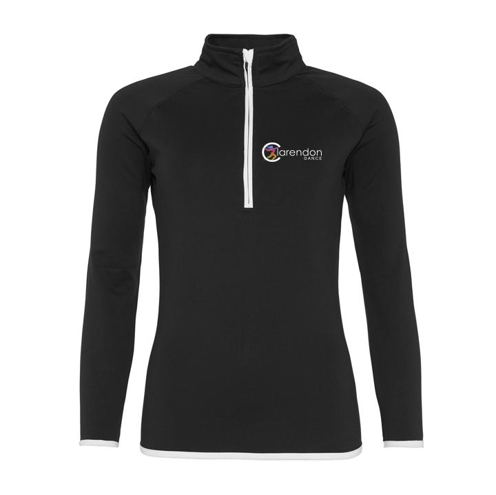 Clarendon Dance Cool ½ Zip Sweatshirt customisable Clarendon Dance