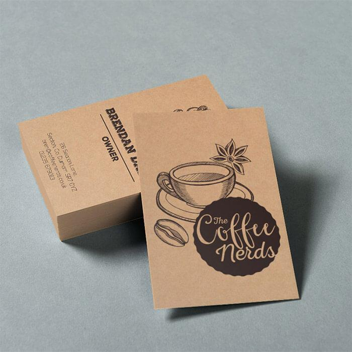 Creative Business Cards Print Media Brown Kraft (350gsm) 250