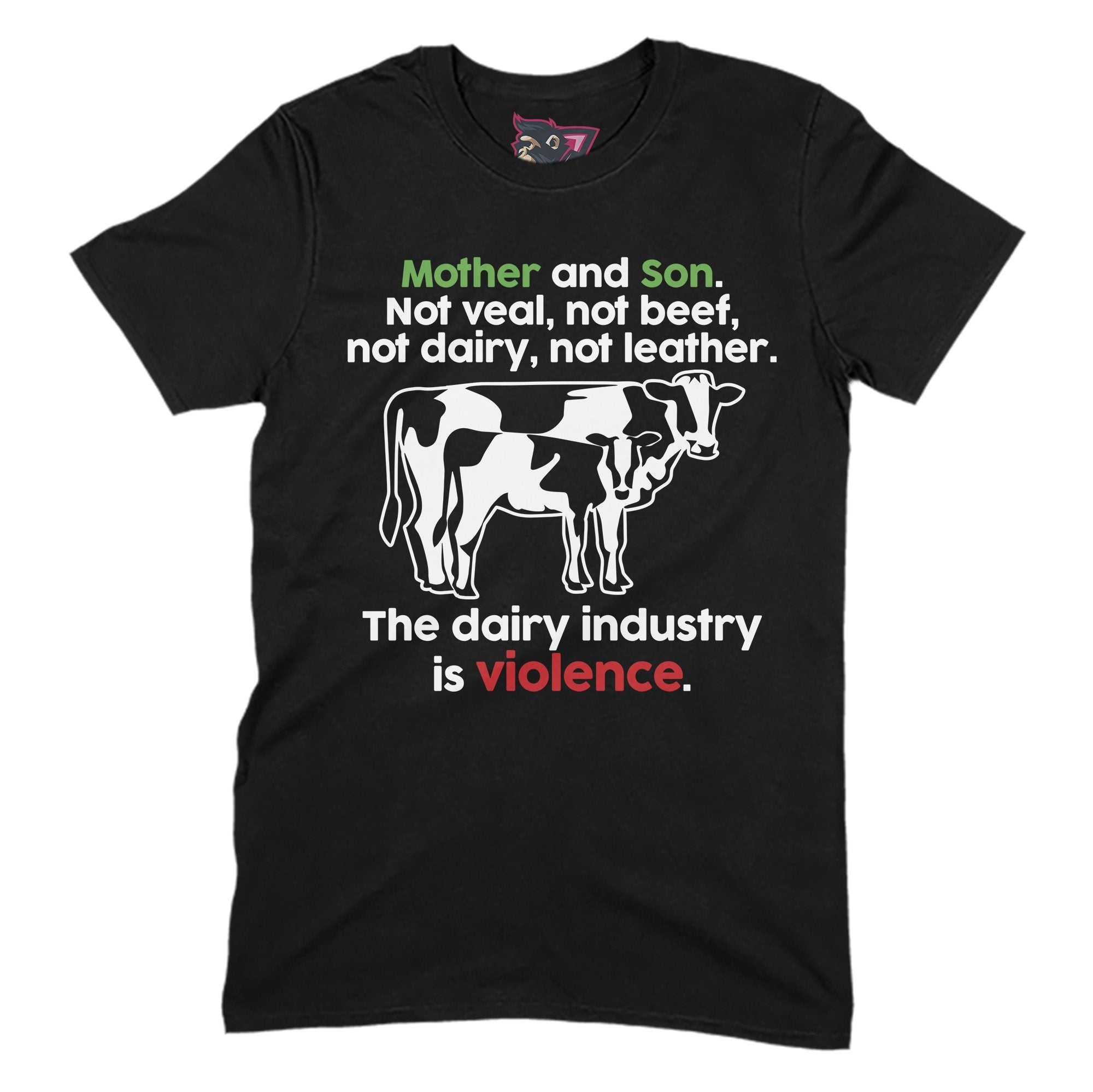 Dairy is Violence Primate Novelty Unisex T-Shirt Adults: S