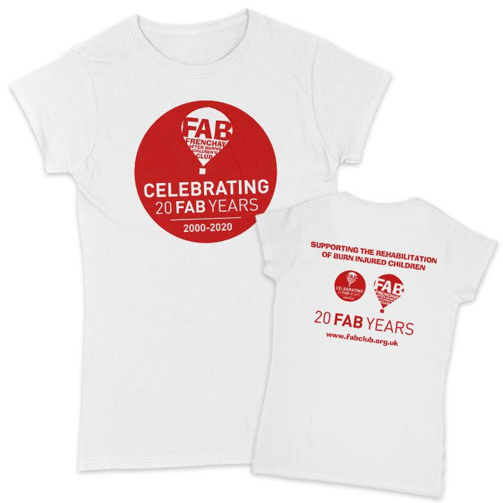 FAB 20 Years Women's T-Shirt FAB Small White