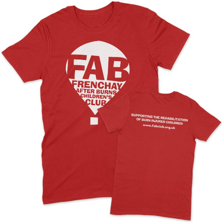FAB Youth T-Shirt FAB 3-4 Years Red