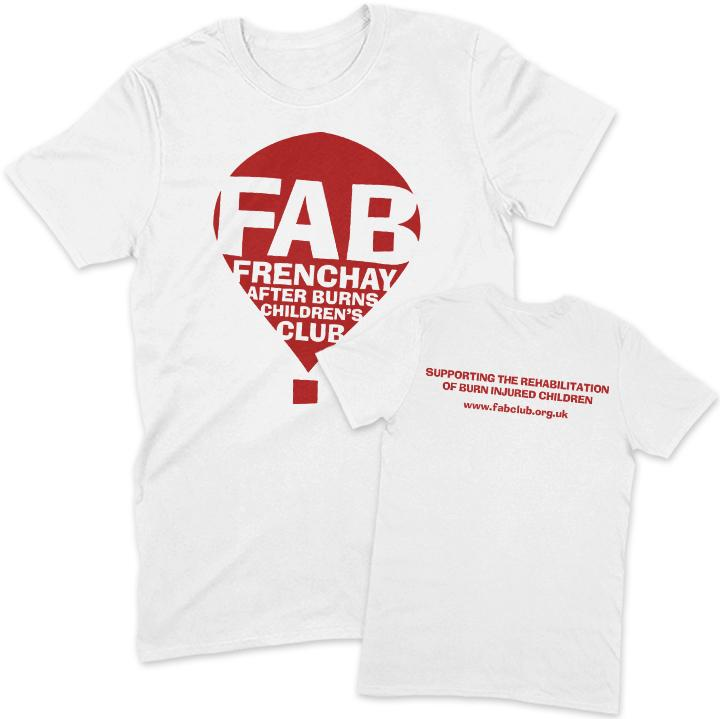 FAB Youth T-Shirt FAB 3-4 Years White