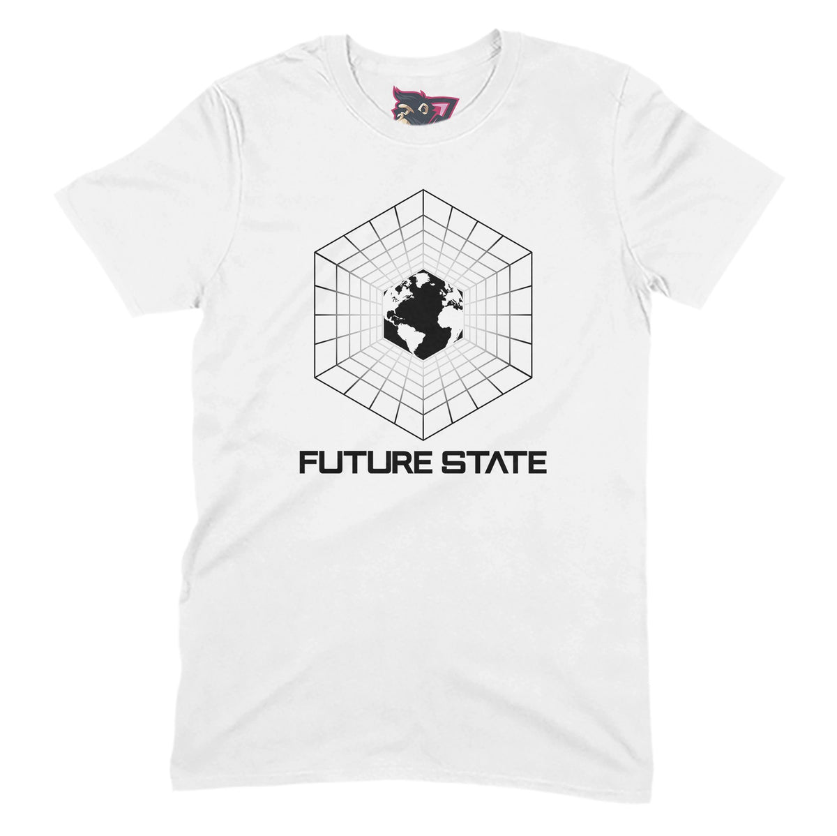 Future State Hexagon T-Shirt - White & Black Future State Music