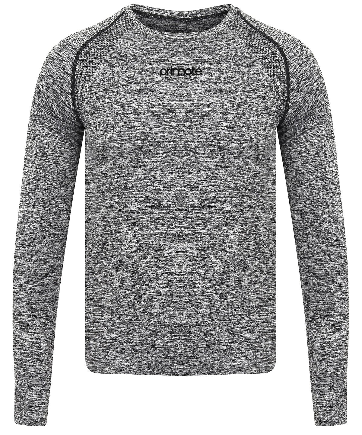 Grey Seamless Long Sleeved Baselayer Primate Activewear
