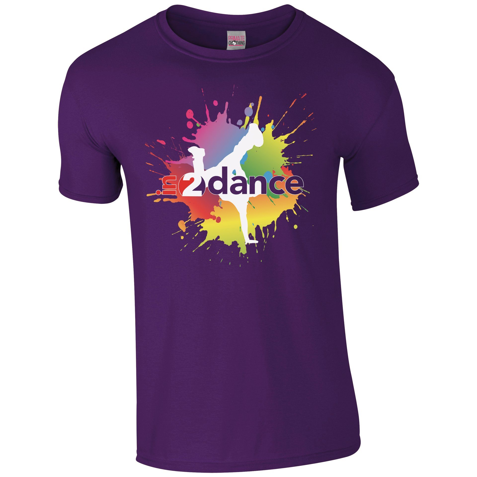 In2Dance: Purple Unisex T-Shirt Customisable In2Dance Youth: 3-4