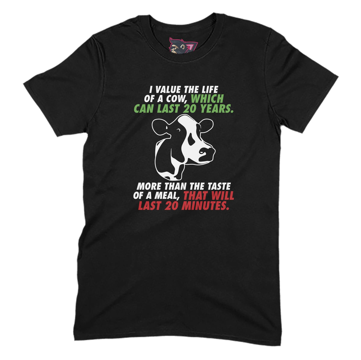 Life of a Cow Primate Novelty Unisex T-Shirt Adults: S