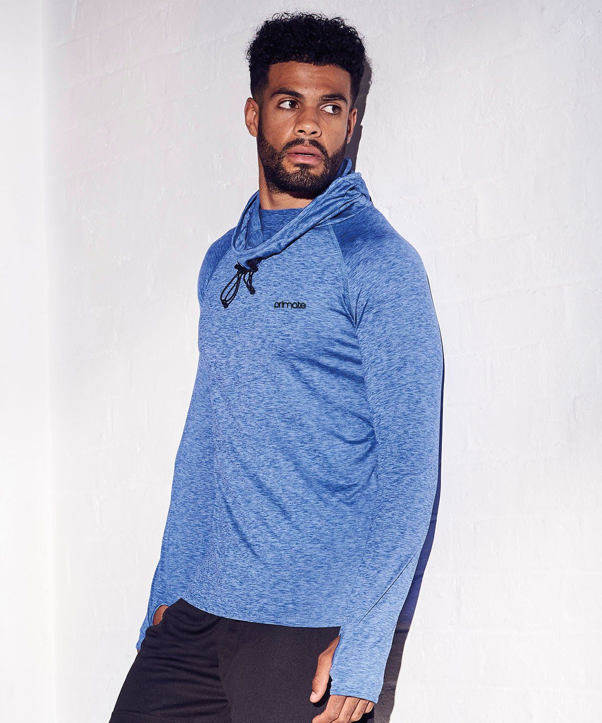 Men's Performance Cowl Neck Hoodie Primate Activewear