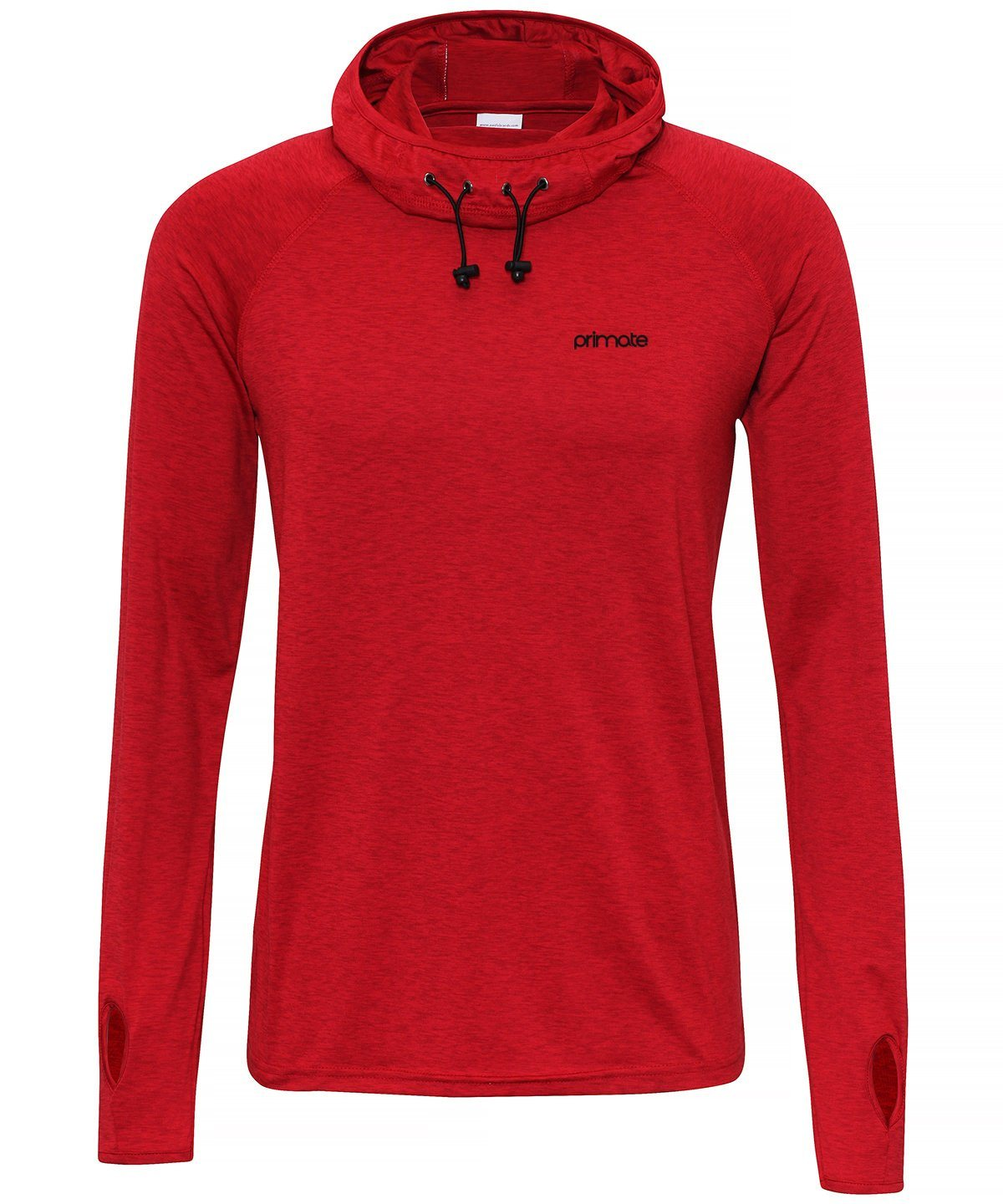 Men's Performance Cowl Neck Hoodie Primate Activewear Red 2XL