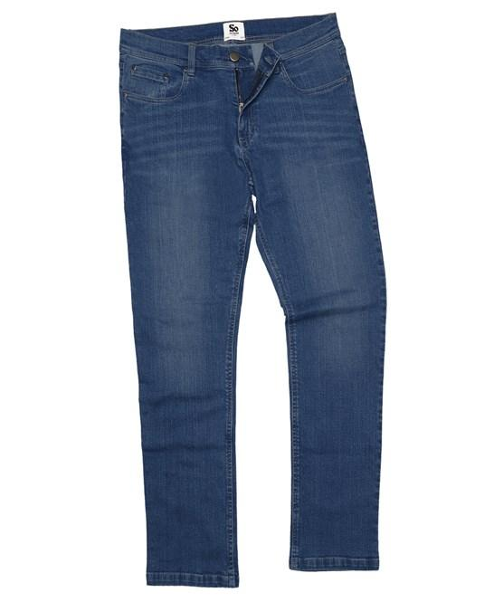 "Men's Straight Jeans Primate Fashion Mid Blue Wash 28"" Regular 31"""