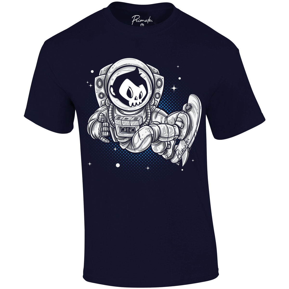 Primate Space Skater - T-Shirt Primate. Fashion Unisex: Small