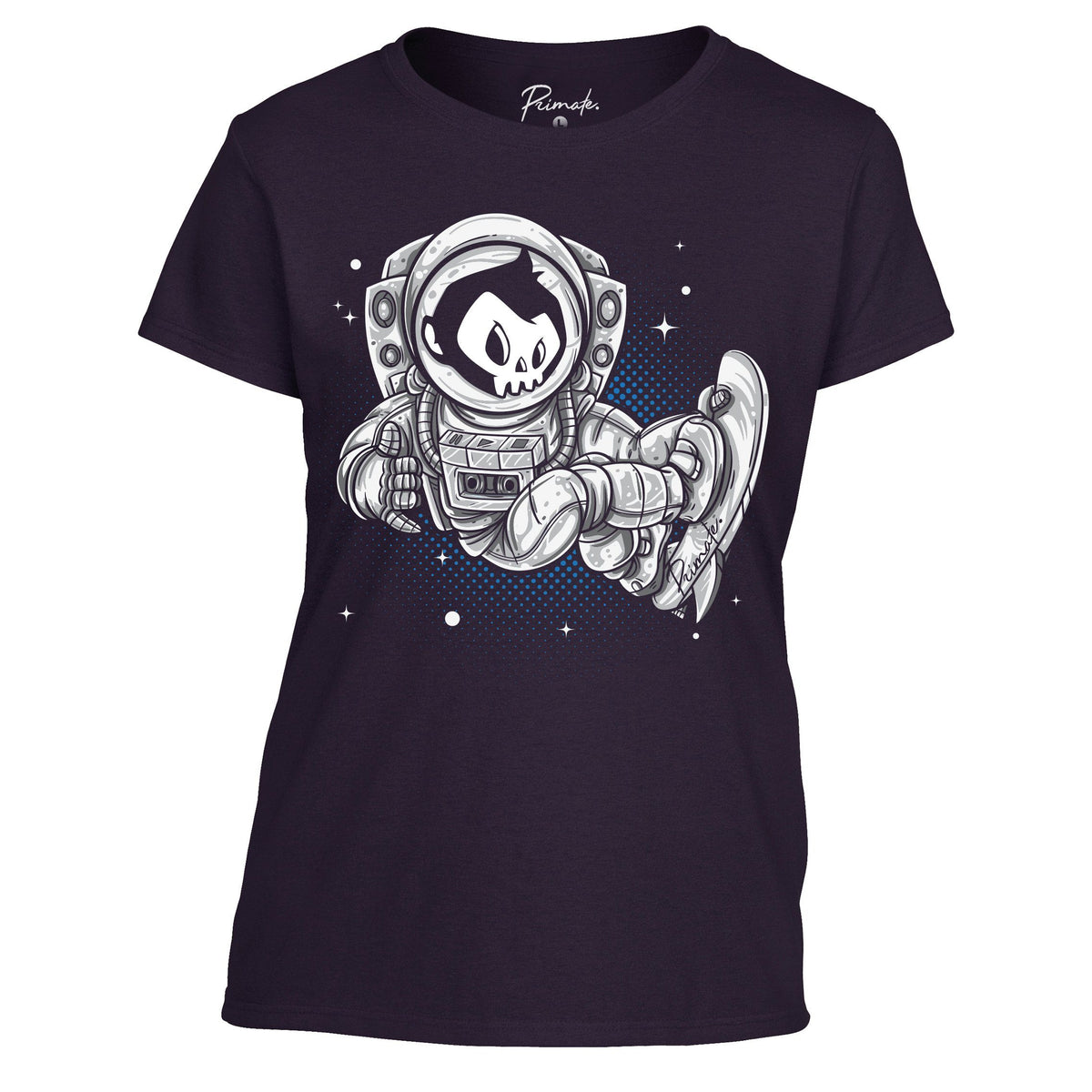 Primate Space Skater - T-Shirt Primate. Fashion Womens: Small