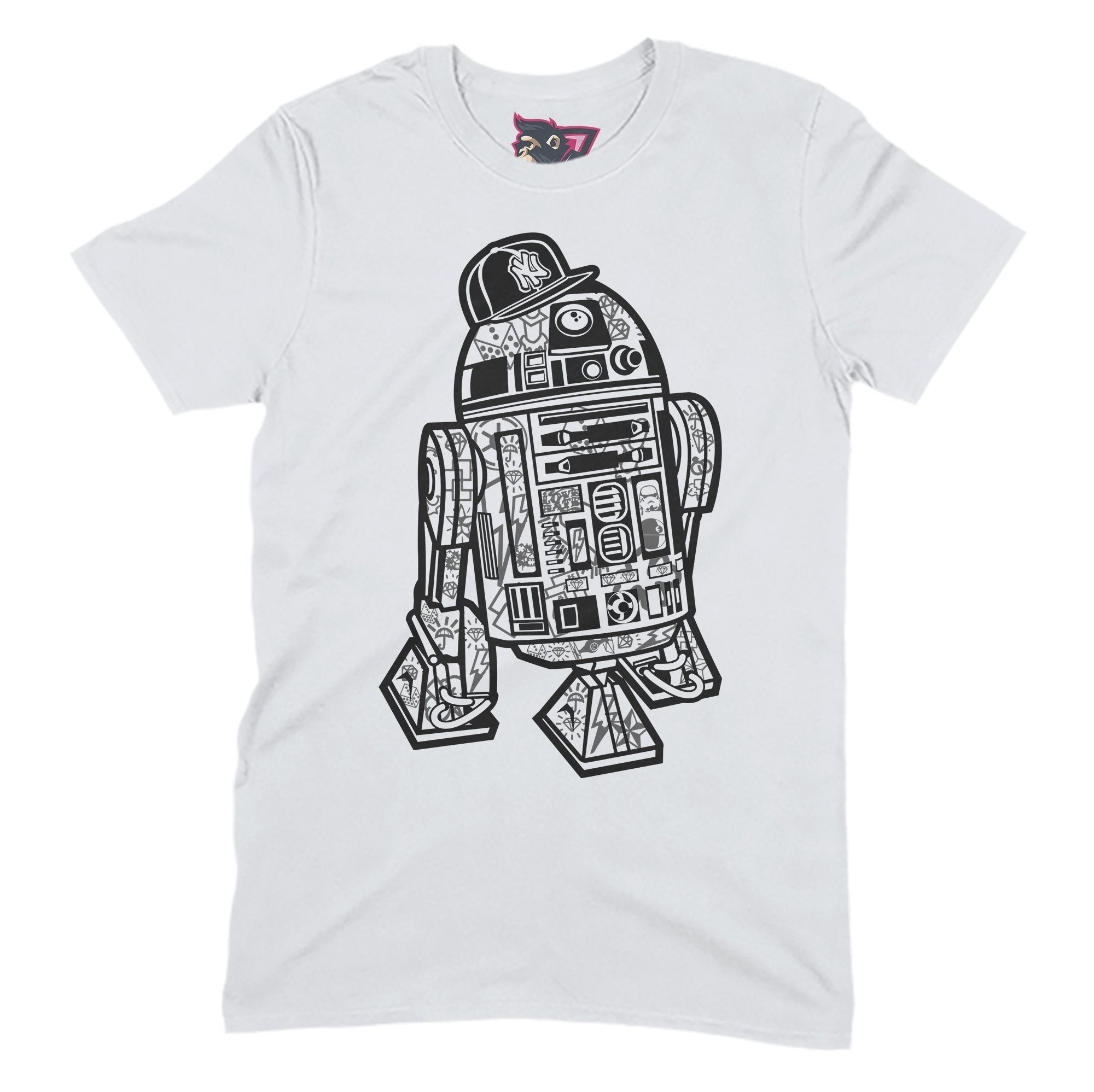 R2D2 Street Primate Novelty Unisex T-Shirt Adults: S
