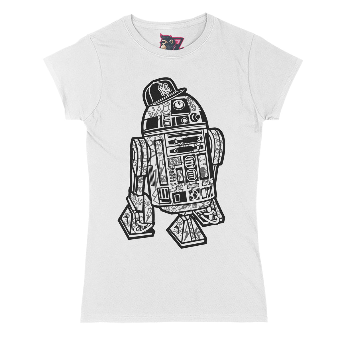 R2D2 Street Primate Novelty Women's T-Shirt Adults: S