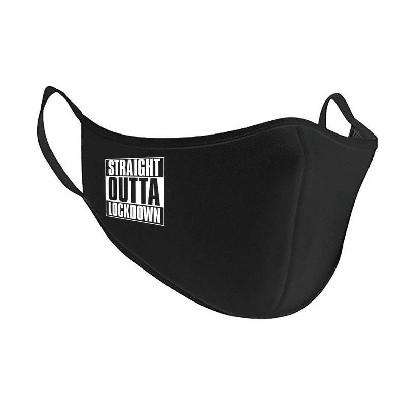Straight Outta Lockdown Antimicrobial Washable Face Mask Face Mask Primate Printing
