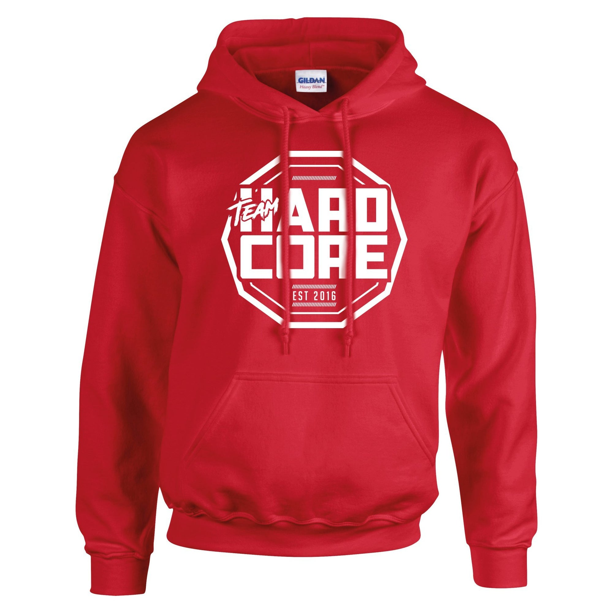 Team Hardcore Unisex Hoodie - Red & White Team Hardcore Small