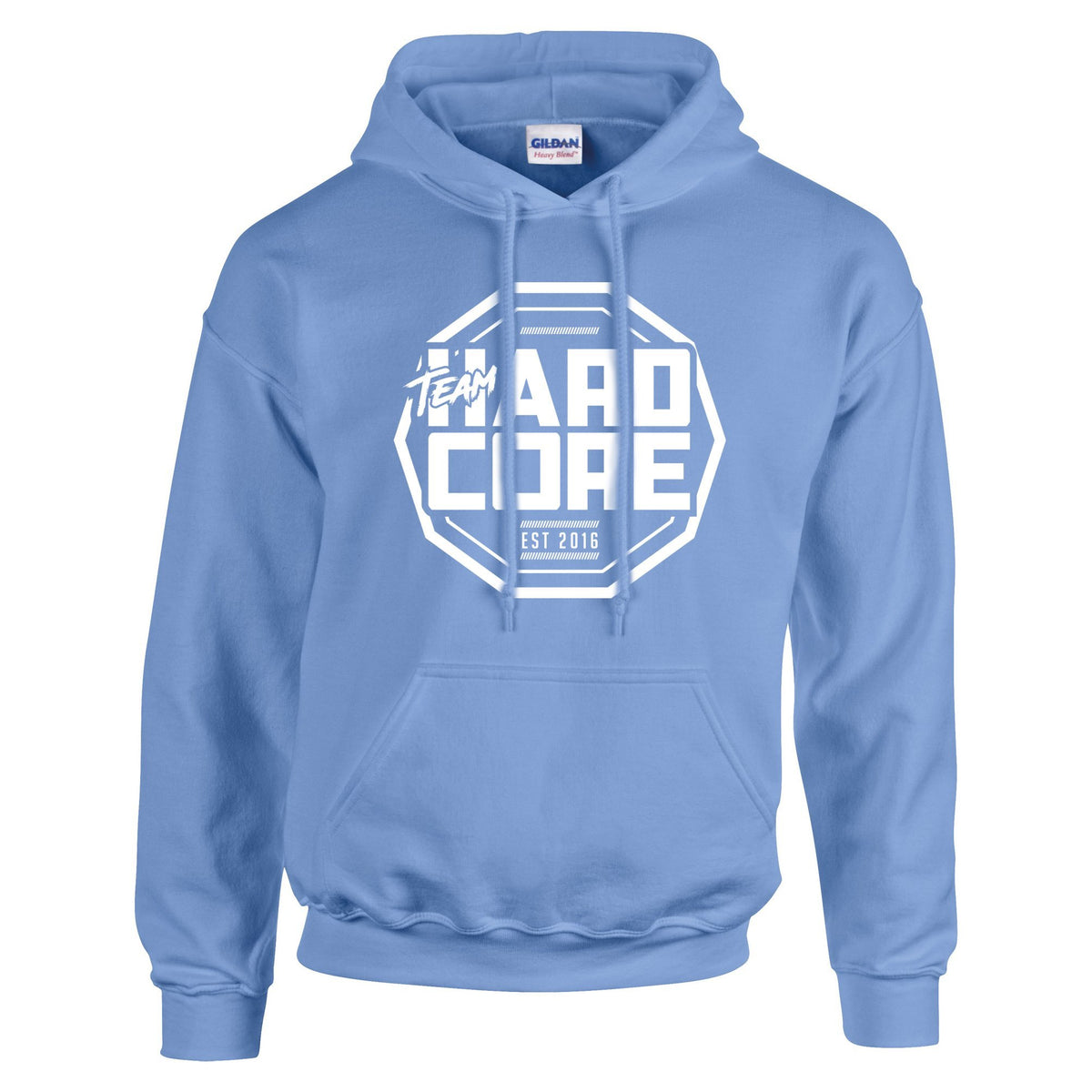 Team Hardcore Unisex Hoodie - Sapphire Blue & White Team Hardcore Small