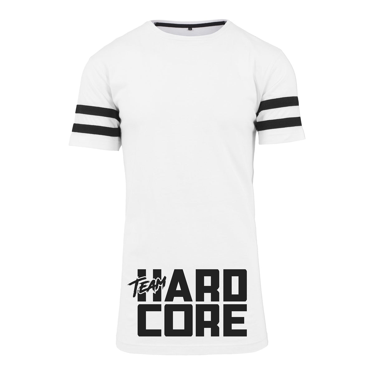 Team Hardcore Unisex Longline Jersey T-Shirt Team Hardcore Small White
