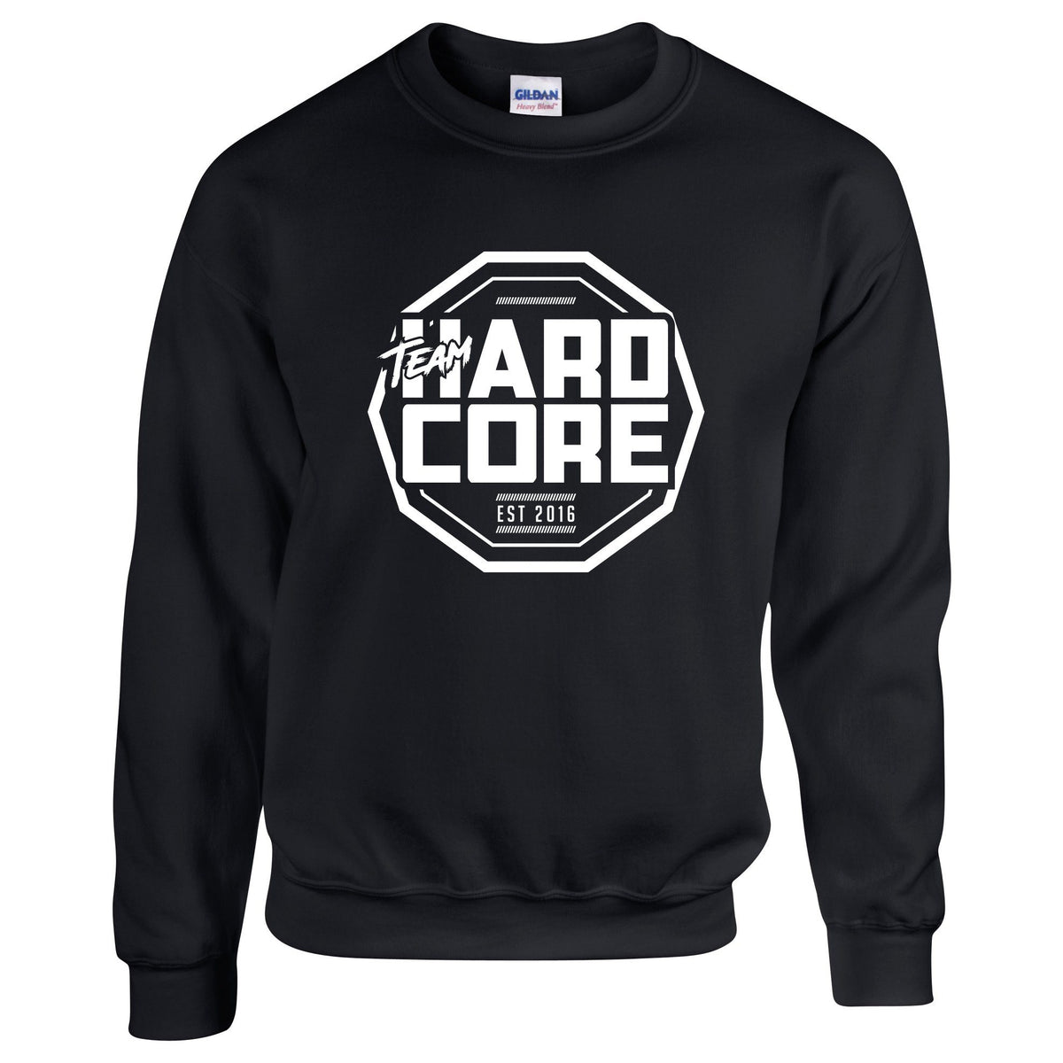 Team Hardcore Unisex Sweatshirt - Black & White Team Hardcore Small