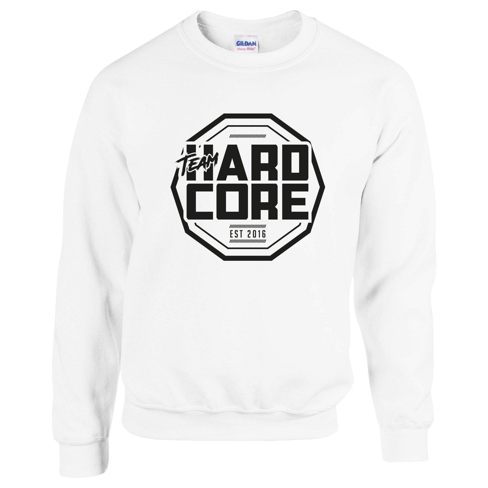 Team Hardcore Unisex Sweatshirt - White & Black Team Hardcore Small