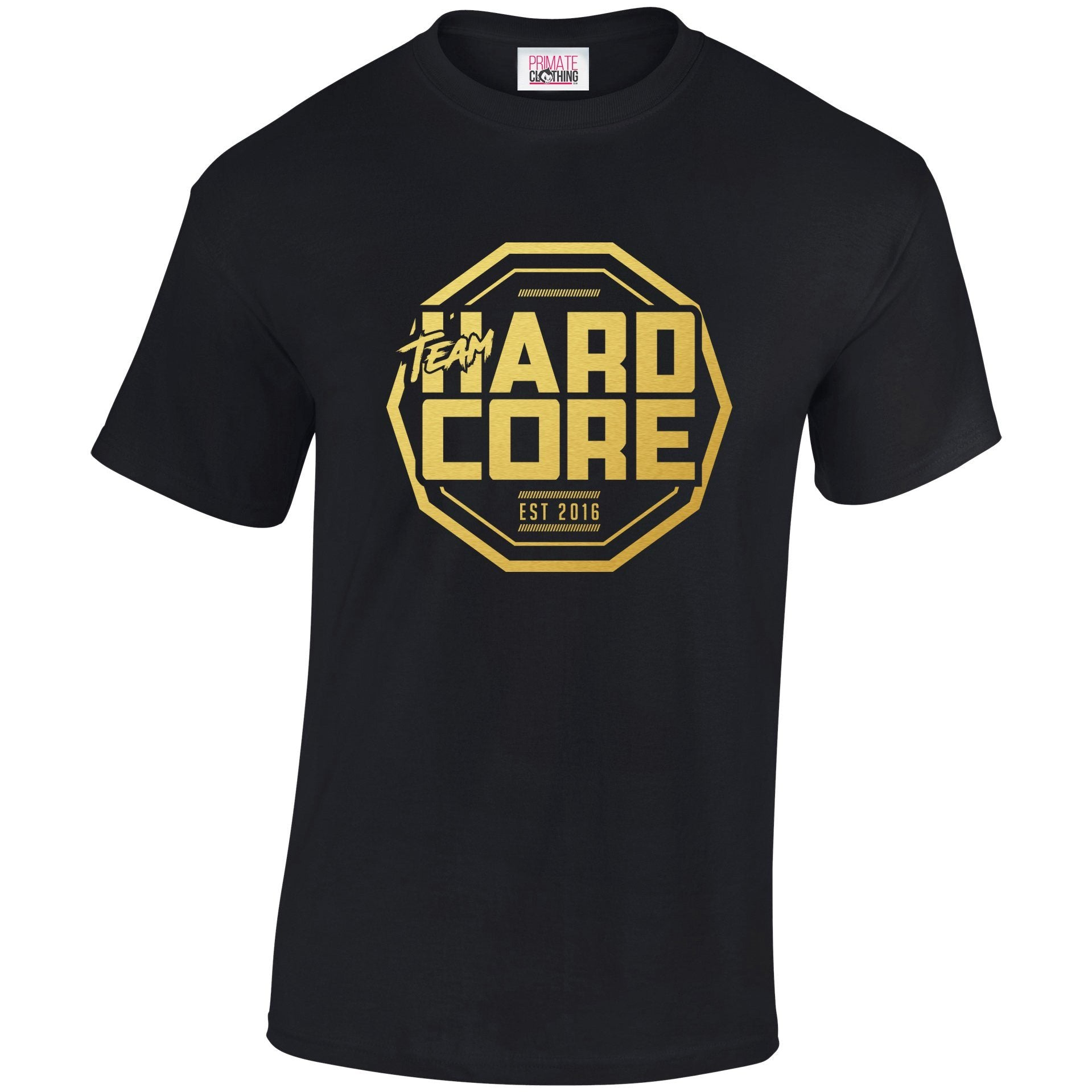 Team Hardcore Unisex T-Shirt - Black & Gold Team Hardcore Small