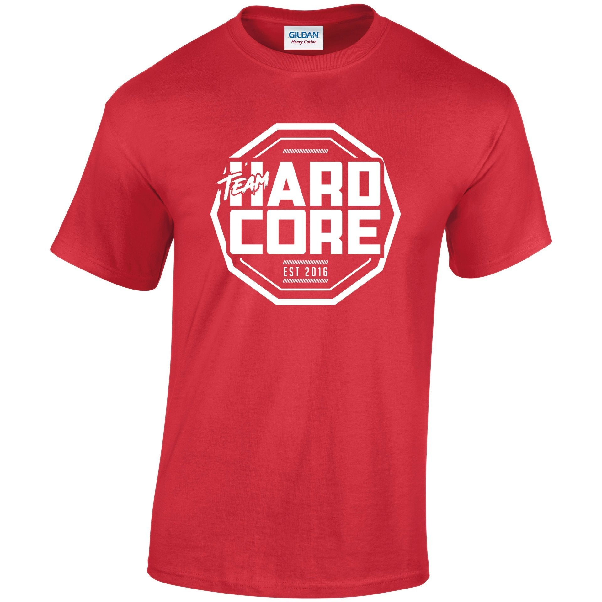 Team Hardcore Unisex T-Shirt - Red & White Team Hardcore Small