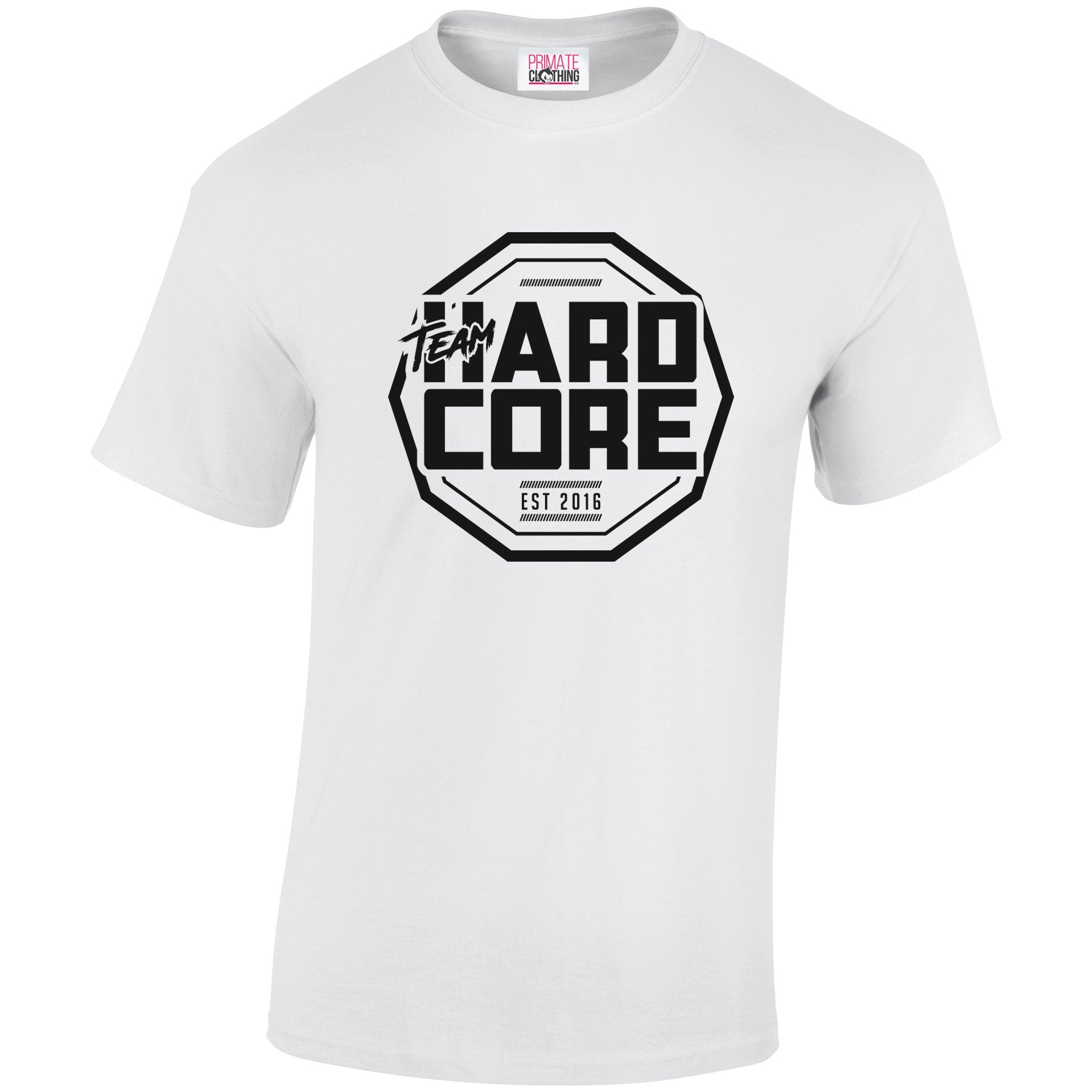 Team Hardcore Unisex T-Shirt - White & Black Team Hardcore Small