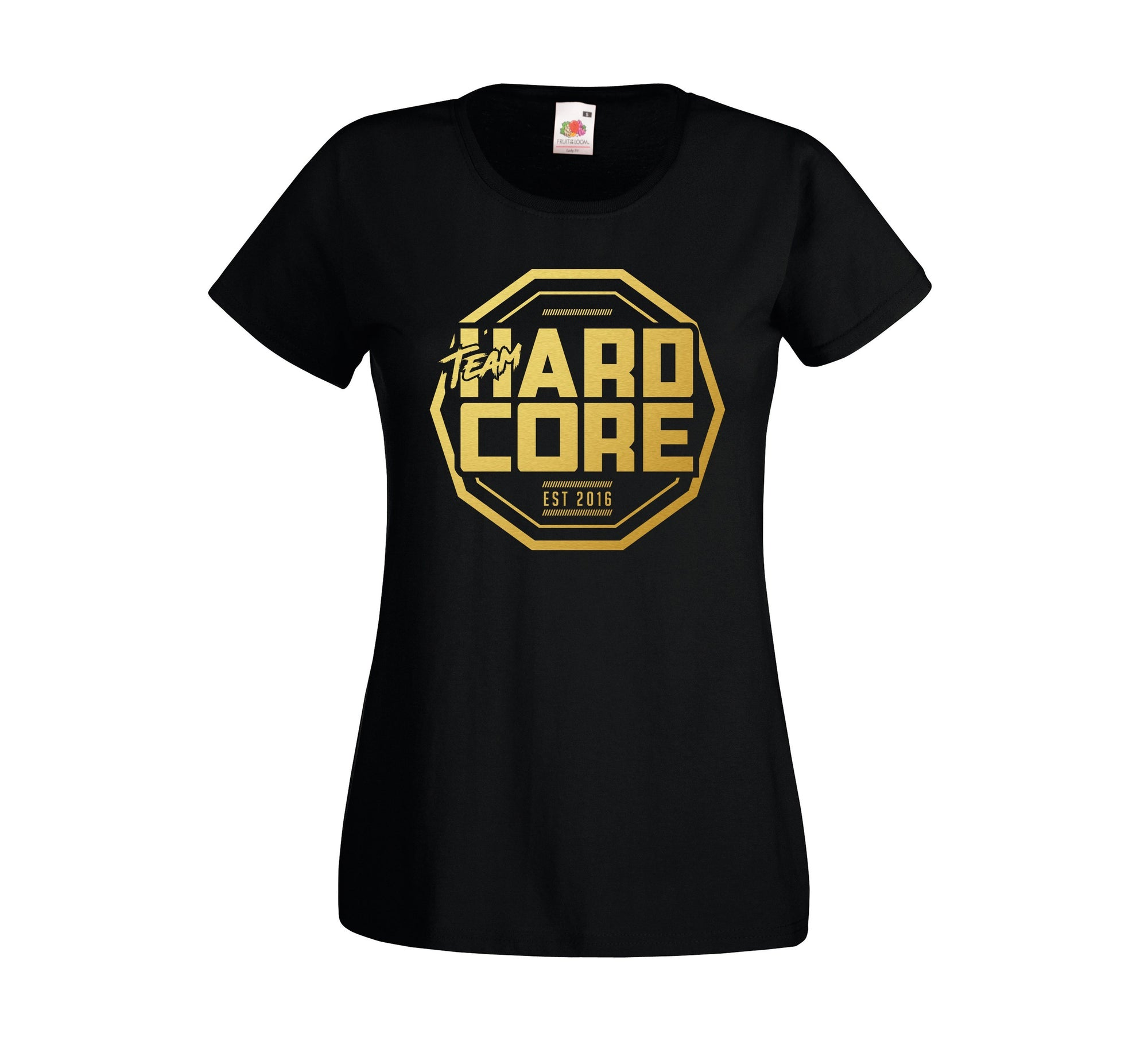 Team Hardcore Women's T-Shirt - Black & Gold Team Hardcore Small