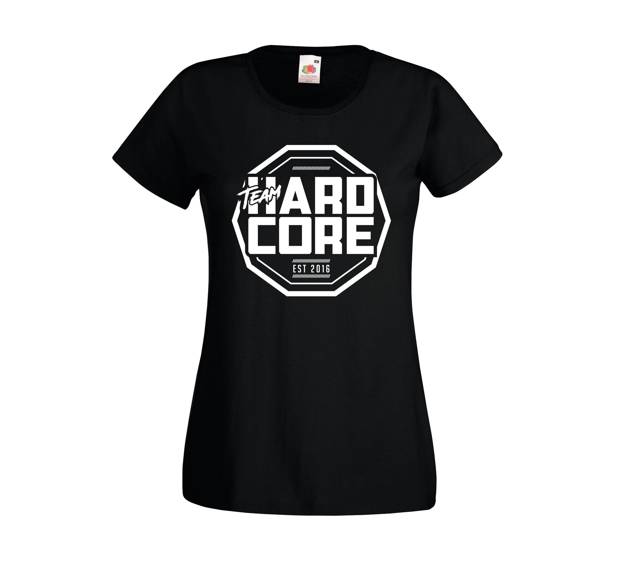 Team Hardcore Women's T-Shirt - Black & White Team Hardcore Small