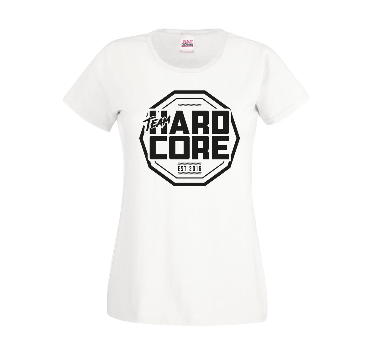 Team Hardcore Women's T-Shirt - White & Black Team Hardcore Small