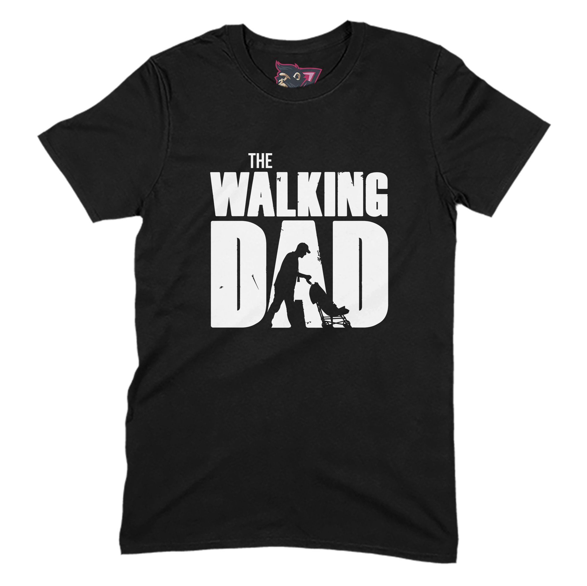 The Walking Dad Primate Novelty Unisex T-Shirt Adults: S