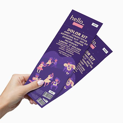 Tickets (74 x 210mm) Print Media Perforated + 2 Serial Numbers 50