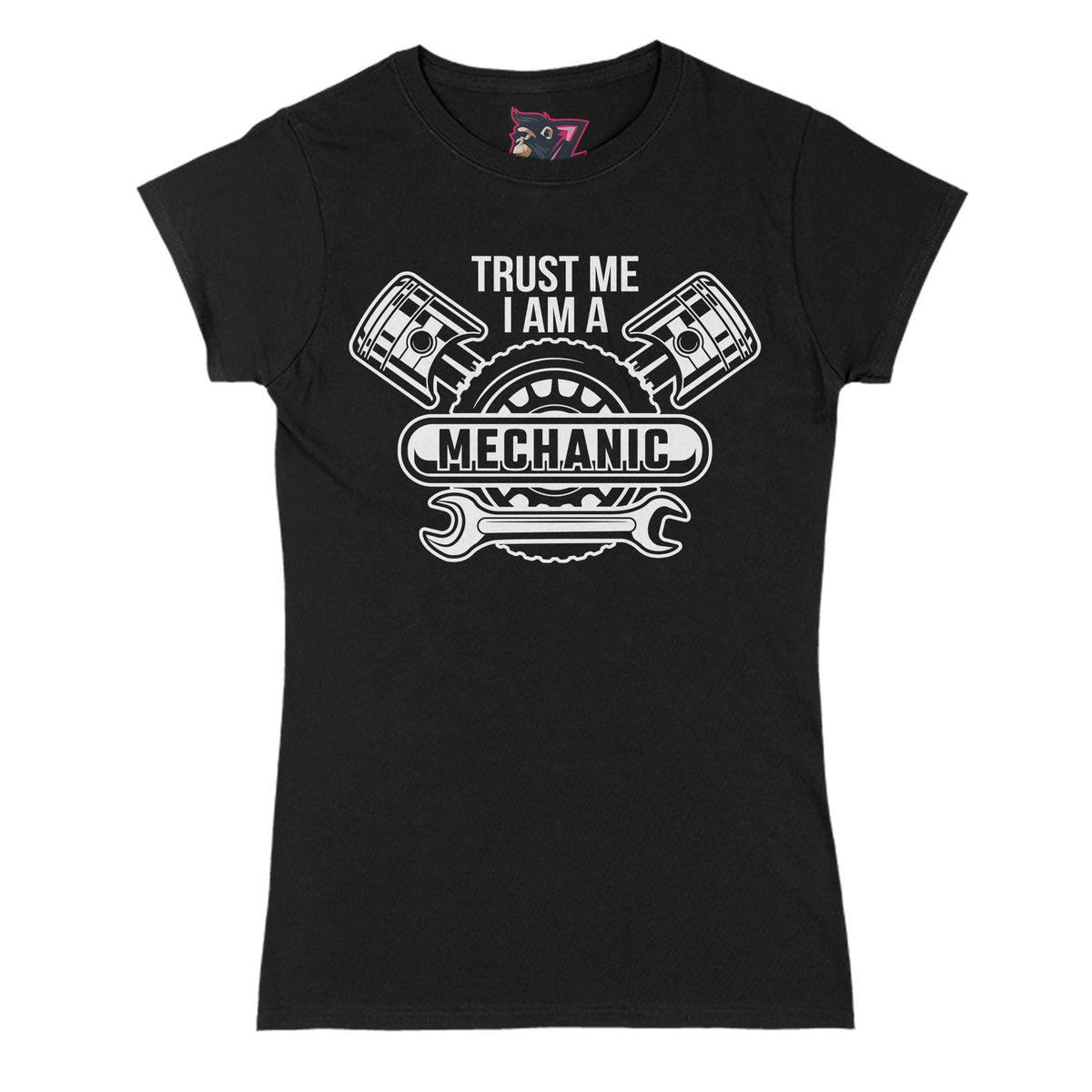 Trust Me Mechanic Primate Novelty Women's T-Shirt Adults: S