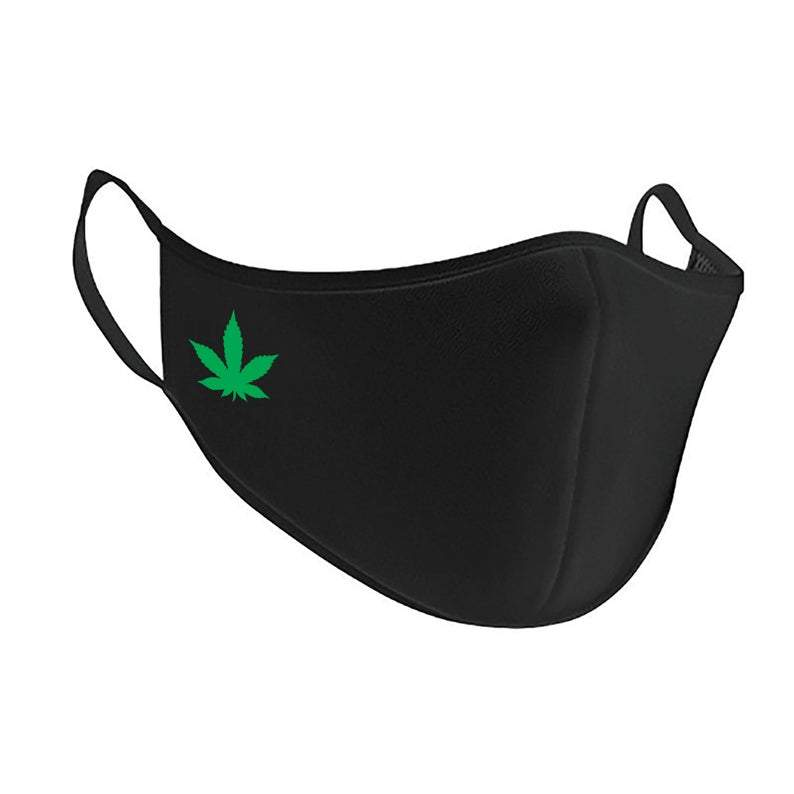 Weed Leaf Antimicrobial Washable Face Mask Face Mask Primate Printing