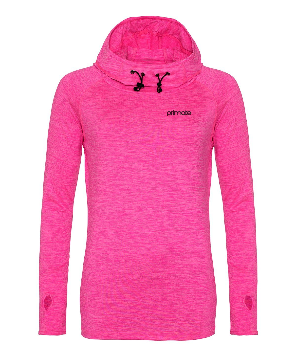 Women's Performance Cowl Neck Hoodie Primate Activewear Electric Pink XS