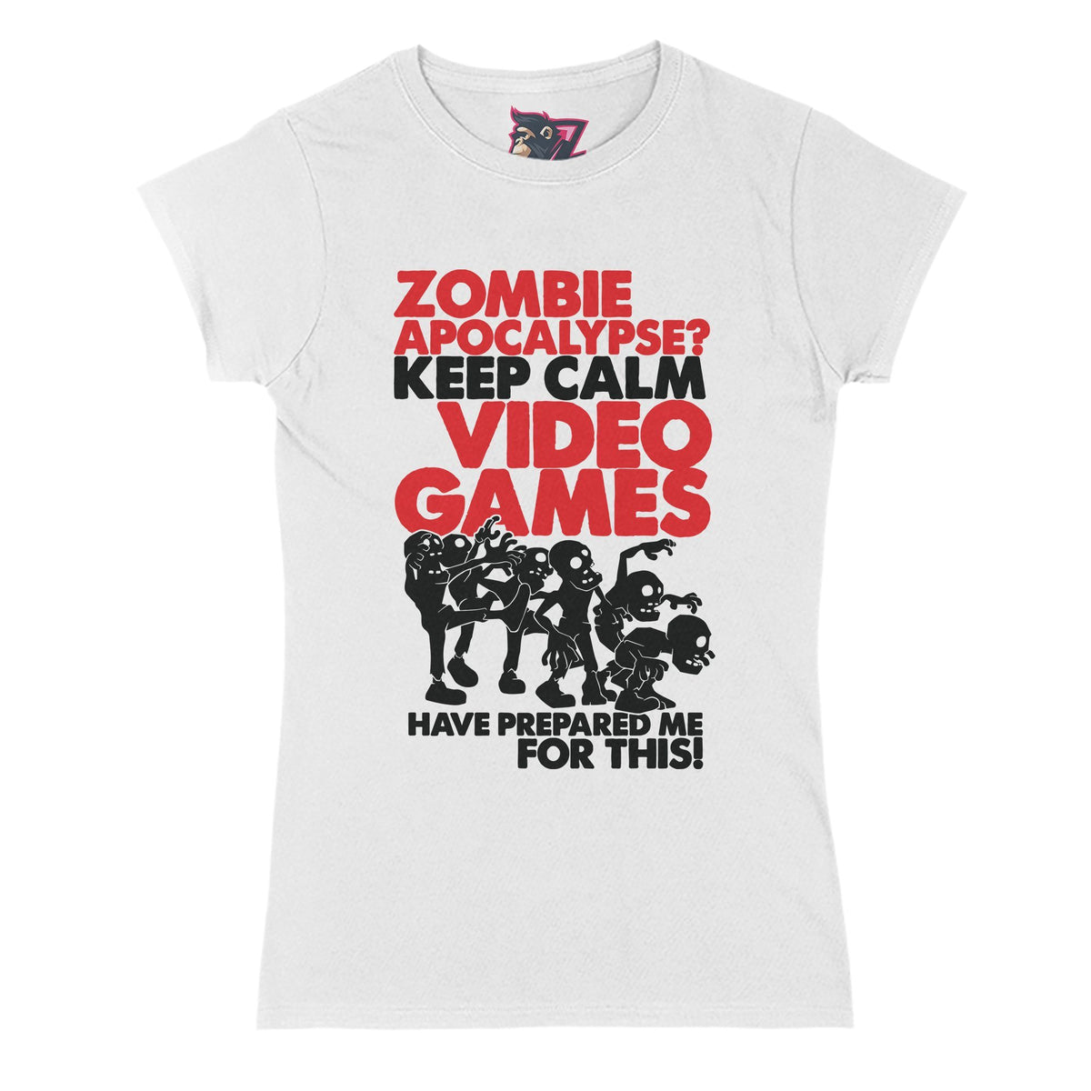 Zombie Apocalypse Primate Novelty Women's T-Shirt Adults: S